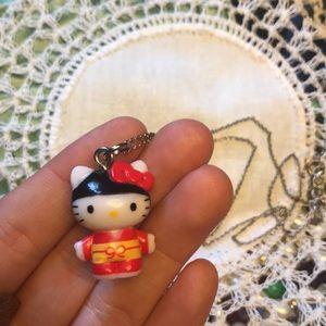 Kimono Samurai Hello Kitty Charm Necklace
